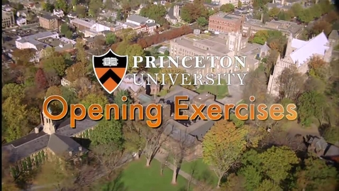 Thumbnail for entry Opening Exercises 2013: A University Convocation