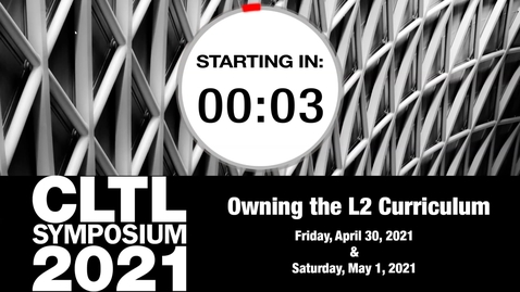 Thumbnail for entry CLTL Symposium 2021 Day1 Opening Remarks