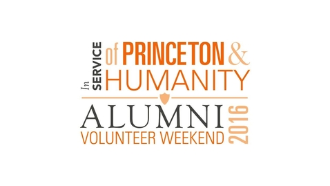 Thumbnail for entry Alumni Volunteer Weekend Panels - Opening Remarks/Video/President Eisgruber