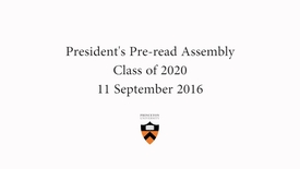 Class of 2020 Pre-read Assembly