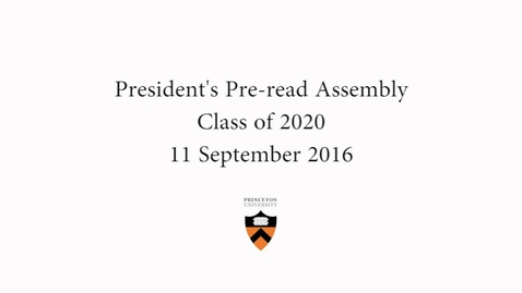 Thumbnail for entry Class of 2020 Pre-read Assembly
