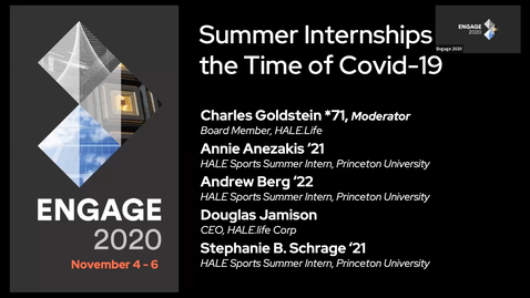 Thumbnail for entry Summer Internships in the Time of COVID-19