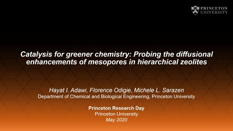 Thumbnail for entry Probing the diffusional enhancements of mesopores in hierarchical zeolites during liquid-phase Friedel-Crafts alkylation of 1,3,5-trimethylbenzene with benzyl alcohol