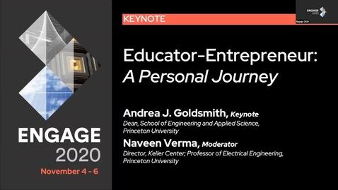 Thumbnail for entry Educator-Entrepreneur: A Personal Journey