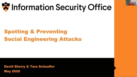 Thumbnail for entry Webinar: Spotting and Preventing Social Engineering Attacks