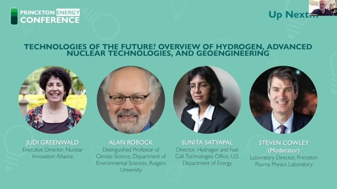 Thumbnail for entry PUEA 2020 Conference Day 2: Panel 6 - Technologies of the Future? Overview of Hydrogen, Advanced Nuclear Technologies, and Geoengineering