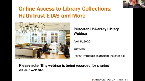 Thumbnail for entry Online Access to Library Collections: HathiTrust ETAS and More