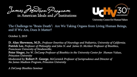 """Thumbnail for entry The Challenge to """"Brain Death"""": are we taking organs from living human beings, and if we are, does it matter?"""