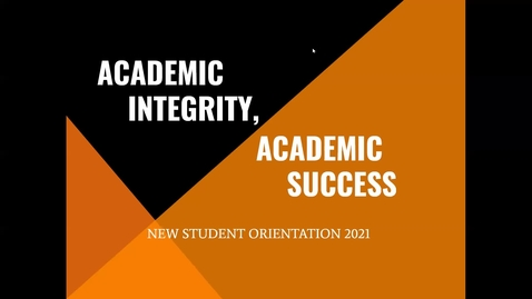 Thumbnail for entry Butler College -- Academic Integrity, Academic Success