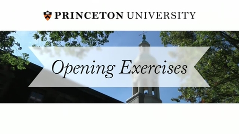Thumbnail for entry Opening Exercises 2014: A University Convocation
