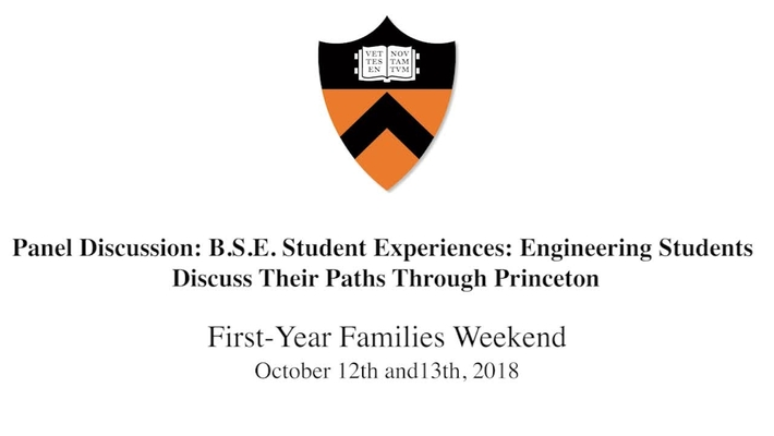 First-Year Families Weekend Panel 4  : Engineering