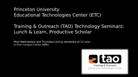 Thumbnail for entry The Productive Scholar: Teaching with WordPress with Timothy Recuber