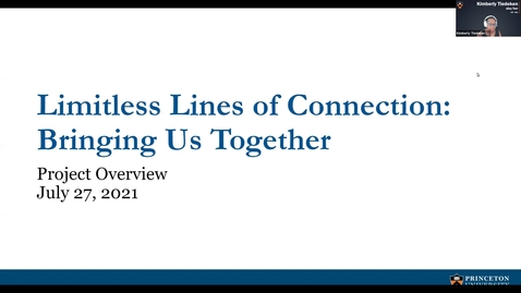 Thumbnail for entry Creating Limitless Lines of Connection: Bringing Us Together Kick Off Meeting [Visual & Audio]