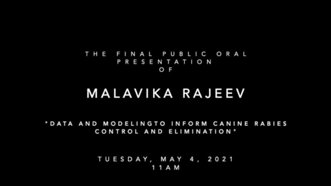 Thumbnail for entry Final Public Oral Examination of Malavika Rajeev