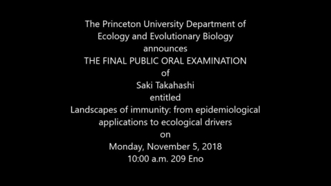 Thumbnail for entry Final Public Oral Examination. Saki Takahashi
