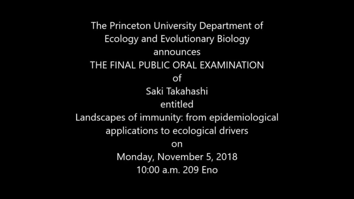 Final Public Oral Examination. Saki Takahashi