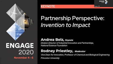 Thumbnail for entry Partnership Perspective from the National Science Foundation: Invention to Impact