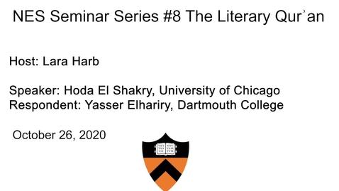Thumbnail for entry Near Eastern Studies Seminar #8
