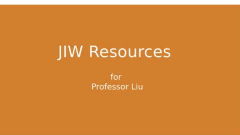 Thumbnail for entry JIW Finance Data Resources (Professor Liu)