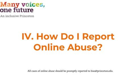 Thumbnail for entry IV. How Do I Report Online Abuse?