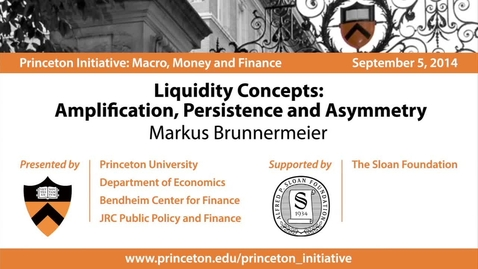Thumbnail for entry Liquidity Concepts: Amplification, Persistence and Asymmetry