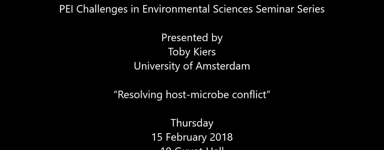 """Resolving host-microbe conflict"""