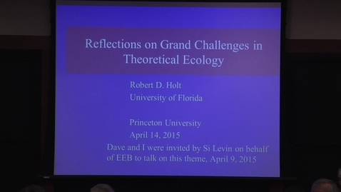 Thumbnail for entry The Grand Challenges In Theoretical Ecology