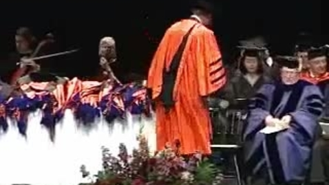 Thumbnail for entry Hooding Ceremony 2004
