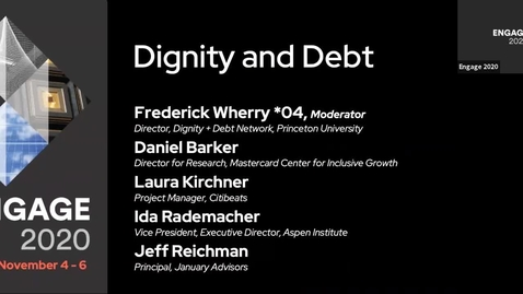 Thumbnail for entry Dignity and Debt