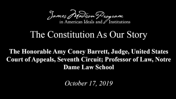 The Constitution As Our Story