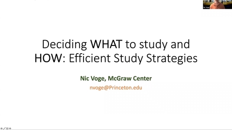 Thumbnail for entry September 25 McGraw Workshop What to study & How Fall 2020