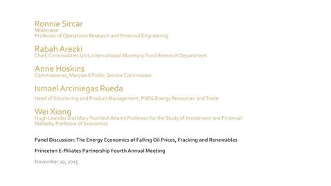 Thumbnail for entry 20151120_Princeton E-ffiliates_Energy Economics Panel