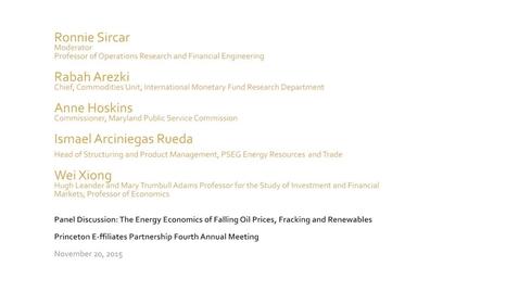 Thumbnail for entry 20151120_Princeton E-ffiliates_Energy Economics Panel