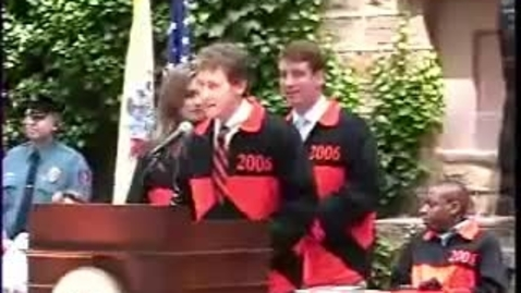 Thumbnail for entry Class Day 2006 with guest speaker Bill Clinton