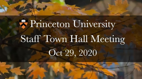 Thumbnail for entry Town Hall Oct 29, 2020