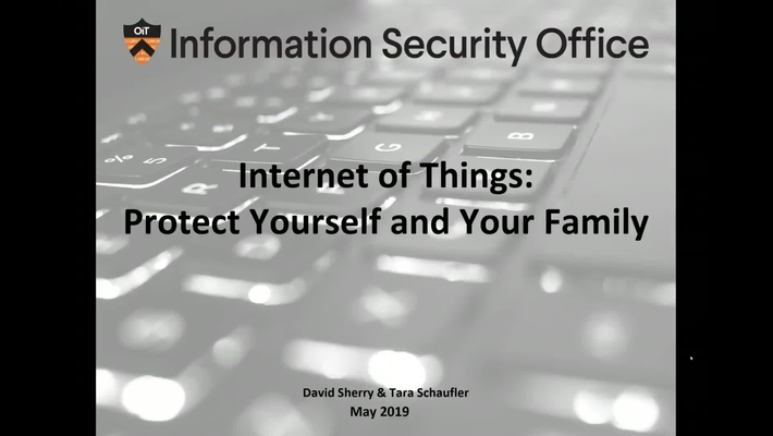 Internet of Things (IoT) - Protect Yourself and Your Family- Webinar - May 23, 20119