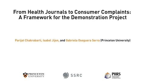 Thumbnail for entry The Dignity & Debt Network Conference - From Health Journals to Consumer Complaints: A Framework for the Demonstration Project