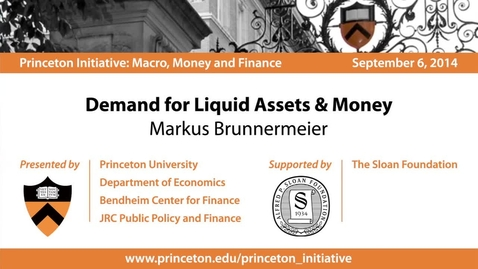 Thumbnail for entry Demand for Liquid Assets & Money