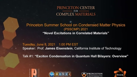 Thumbnail for entry Exciton Condensation in Quantum Hall Bilayers Overview