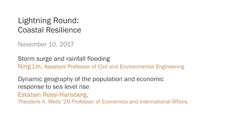 Thumbnail for entry Lightning Round – Coastal Resilience