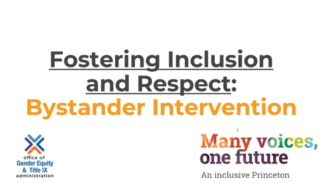 Thumbnail for entry Fostering_Inclusion-Module 4 Bystander Intervention