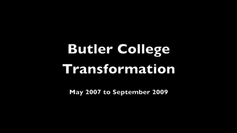 Thumbnail for entry Butler Residential College Transformation