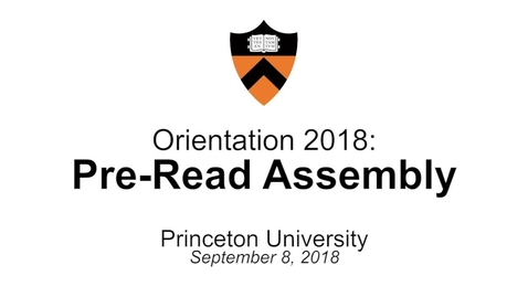Thumbnail for entry Orientation 2018: Pre-Read Assembly