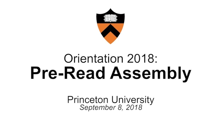 Orientation 2018: Pre-Read Assembly