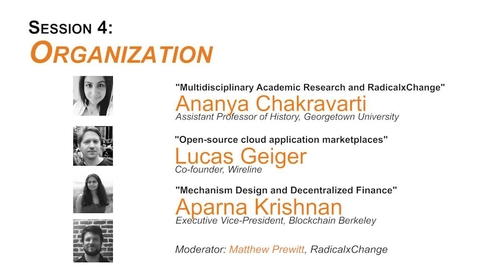 Thumbnail for entry Session 4: Organization - JRCPPF's Eighth Annual Conference