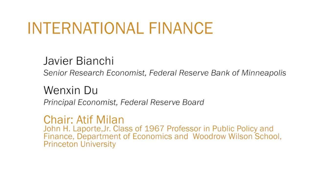 Javier Bianchi and Wenxin Du Panel