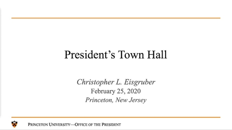 Thumbnail for entry President's Town Hall 2020