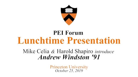Thumbnail for entry PEI 25 Forum - Lunchtime Presentation - October 25, 2019