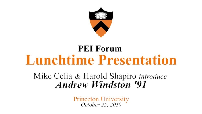 PEI Forum - Lunchtime Presentation - October 25, 2019