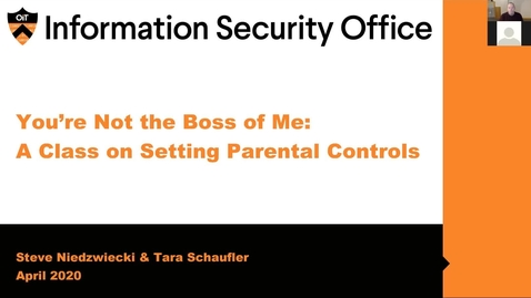 Thumbnail for entry Webinar:  Setting Parental Controls